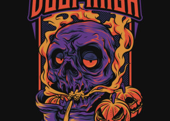 Doom High Halloween Theme T-Shirt Design