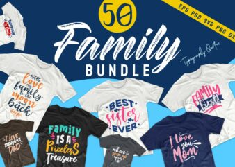 Family t-shirt design quotes bundle, Motivational inspirational t shirt designs bundles. Family svg bundle vector pack. Family typography.