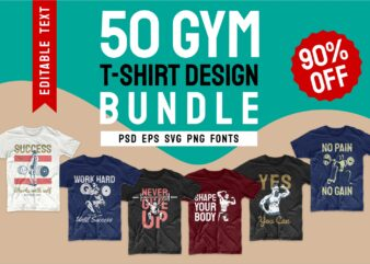 Gym t shirt design bundle. Workout t shirt designs bundles. Editable t-shirt design bundle. Gym tee shirts designs for commercial use. Gym slogan quotes design. T shirt design for gym. Sport t shirt designs