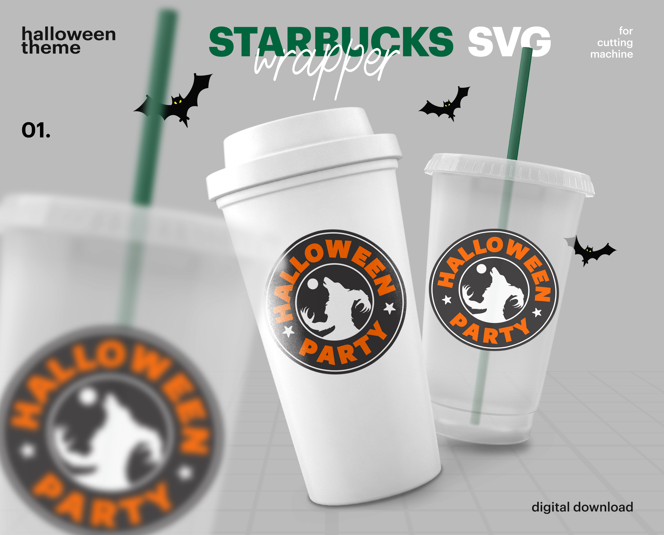 Starbucks Svg Logo And Wrap Starbucks Halloween Svg Reusable Starbucks Cup Svg Starbucks Venti Cup Starbucks Grande Cup Svg Png Cut File Buy T Shirt Designs