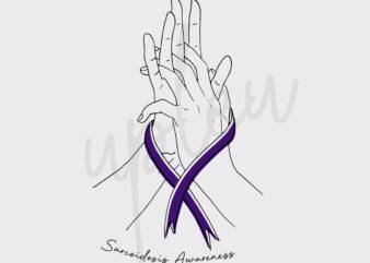 Line Art Sarcoidosis SVG,Sarcoidosis Awareness SVG, Purple Ribbon SVG, Fight Cancer svg, Line Art svg, Awareness Tshirt svg, Digital Files