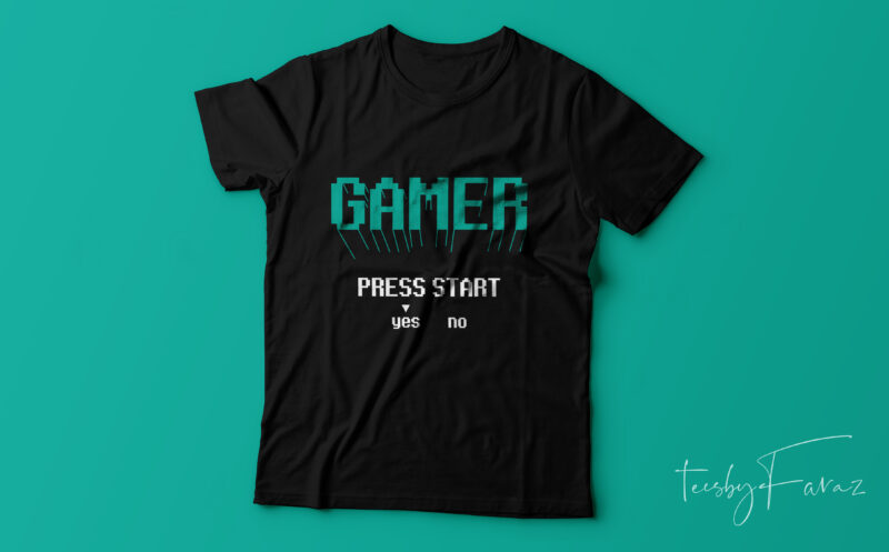 Gaming T shirts | Pack of 25 top notch designs with editable files | Ready to print