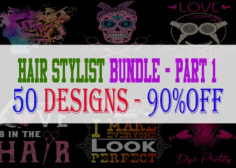 Hair Stylist Bundle Part 1 – 50 Designs – 90% OFF