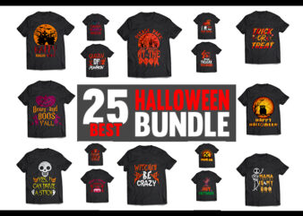 Halloween T-Shirt Design Bundle