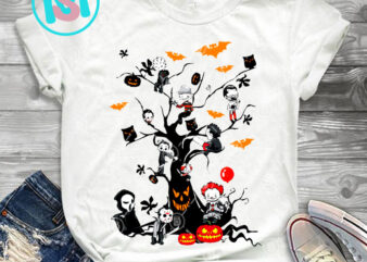 Halloween Tree Movies Horror PNG, Michael Myers PNG, IT PNG, Jason Voorhees PNG, Horror PNG, Digital Download