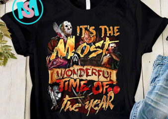 It's The Most Wonderful Time Of The Year PNG, Horror PNG, Jason Voorhees PNG, Michael Myers PNG, Halloween PNG