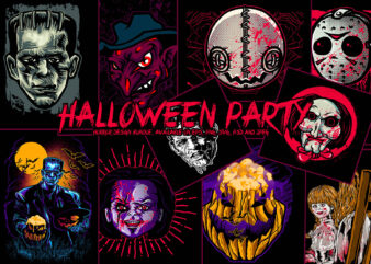 Halloween party design bundle