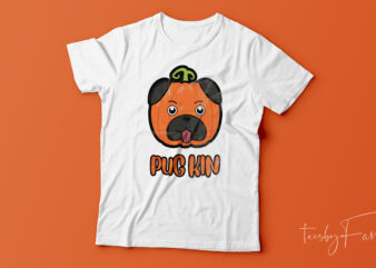 PUGKIN | Halloween Theme T shirt for Pug Lovers