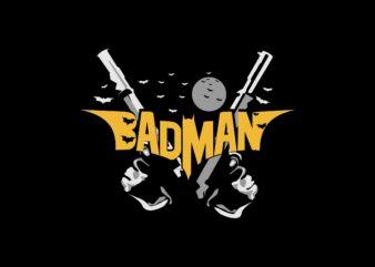 Badman – batman parody t shirt design sale