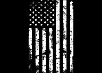 American flag, US flag t shirt design for download