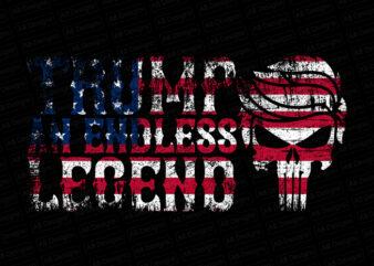 Trump an endless legend with american flag, American flag, USA flag, United state flag, USA trump flag T-Shirt Design