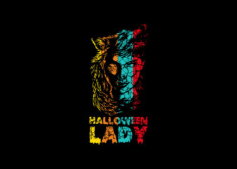 Halloween Lady T-Shirt Design