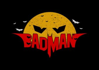 Badman – Helloween badman design vector sale