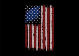 Usa flag – My flag vector illustration artwork t shirt design for sale