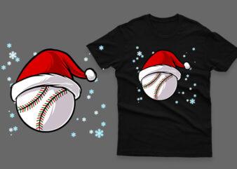 Baseball christmas 100% vector ai, eps, svg, png transparent background