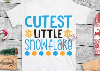 Cutest Little Snowflake Svg, Cutest Little Snowflake vector, Snowflake vector, Merry Christmas, Christmas 2020, Christmas logo, Funny Christmas Svg, Christmas, Christmas vector