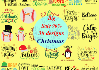 30 T shirt Designs bundles Christmas vector, Merry Christmas 2020 vector, Santa Svg, Funny Santa, Reindeer Svg, Snowflakes vector, Snowman vector, Merry Christmas, Christmas 2020, Christmas logo, Funny Christmas Svg, Christmas, Christmas vector