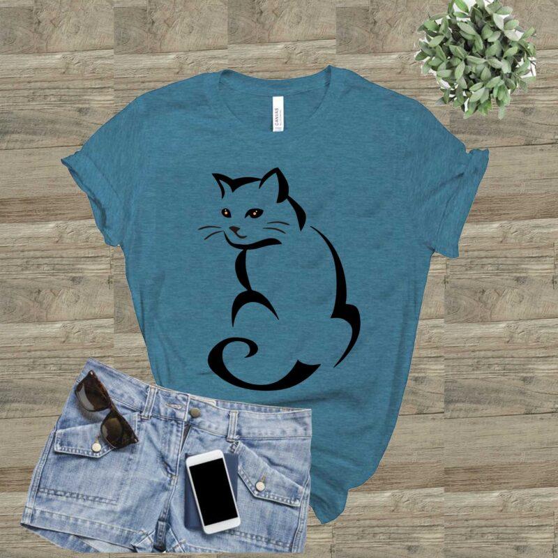 Download Cat Svg, Cat Vector, Kittens logo, Cat Cute vector, Kitten ...