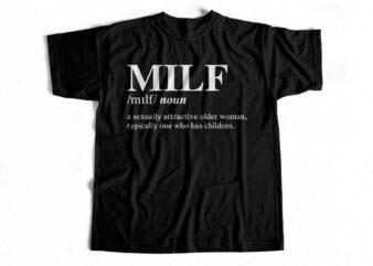 MILF Definition t-shirt design for sale