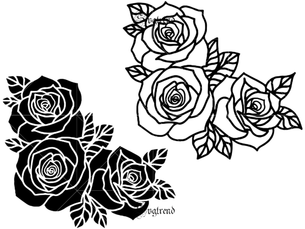 2 bundles t shirt designs roses vector, Roses vector, roses logo, Roses vine Flower SVG, Rose file for cutting Svg, Flower SVG, Roses bush SVG, Rosevine Svg, Vinyl Iron On, Cricut, Silhouette, Vinyl Decal