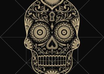 Sugar skull Svg, Sugar skull art vector, Skull Png, Skull Svg, Skull vector, Skull logo, Day of the dead Svg, Halloween Svg, Calavera Svg, Mandala Skull, Mexican Skull Svg