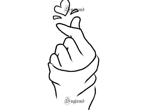 Hand Heart Symbol Of Love Svg Hand Heart Symbol Of Love Vector Heart Vector I Love