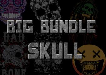 BIG SKULL BUNDLE t shirt template