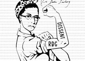 Notorious RBG Ruth Bader Ginsburg I dissent svg, Notorious RBG svg, ruth bader ginsburg, ruth bader ginsburg png , rbg vector, ruth bader ginsburg vector, rbg design
