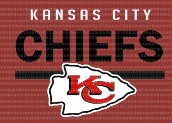 Kansas city chiefs svg, Kansas city chiefs, Kansas city chiefs football, Kansas city chiefs logo, KC football, football svg, png, eps, dxf file