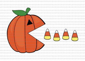Funny Halloween Pumpkin Eating Candy Corn, Halloween Pumpkin svg, Halloween Pumpkin Eating Candy Corn svg, halloween svg, png, eps, dxf file