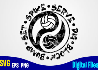 Yin Yang, Volleyball, volleyball svg, Sports, Volleyball Fan, volleyball Player, Funny Volleyball design svg eps, png files for cutting machines and print t shirt designs for sale t-shirt design png