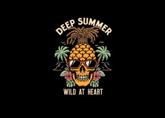 Deep Summer vector t-shirt design