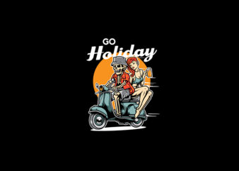 Go Holiday vector t-shirt design