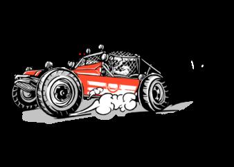 Design t-shirt buggy car race