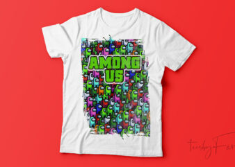 Among Us | Game Lover T shirt design for sale