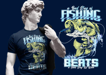 BIG BASS FISHING DESIGN TSHIRT