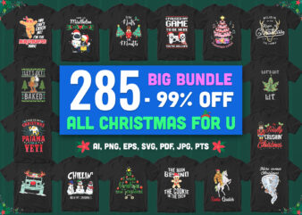 285 Special All Christmas Artwork – BIG BUNDLE! [typo+character+ginger+goblin]
