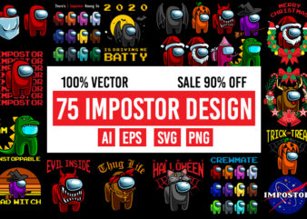 75 impostor design 100% Vector AI, EPS, SVG, PNG transparent