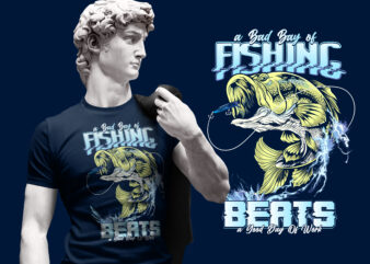 BIG BASS FISHING DESIGN TSHIRT