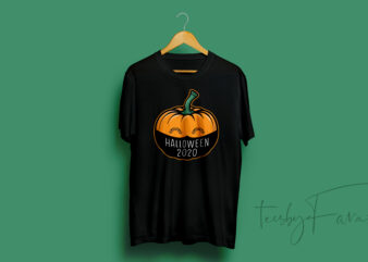 Halloween 2020 T shirt | Pumpkin with mask | Ready to print