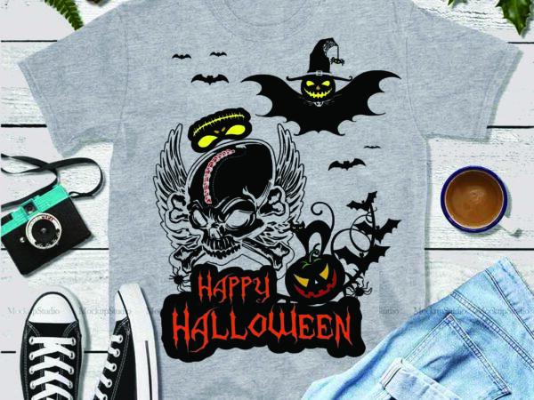 Halloween 2020 On Digital Download Skull Svg, Pumpkin vector, Halloween 2020, Happy Halloween Svg