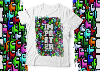 Imposter | Game Lover T shirt design for sale
