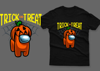 Trick or treat halloween pumpkin impostor