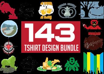 143 T-Shirts Designs Bundle Mix