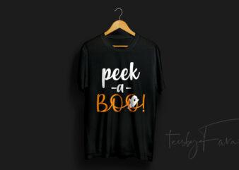 Peek a Boo | Halloween T Shirt Design for sale