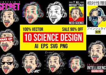10 Science Design Bundle 100% Vector AI, EPS, SVG, PNG, CDR