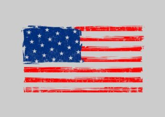 """American grunge flag"" Design Tshirt Vector Template for sale"
