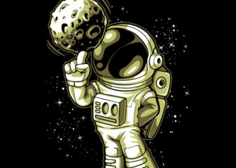 Astronaut and Moon 2