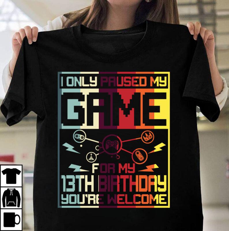 Gamer Birthday Bundle 1 – 50 Designs -90% OFF