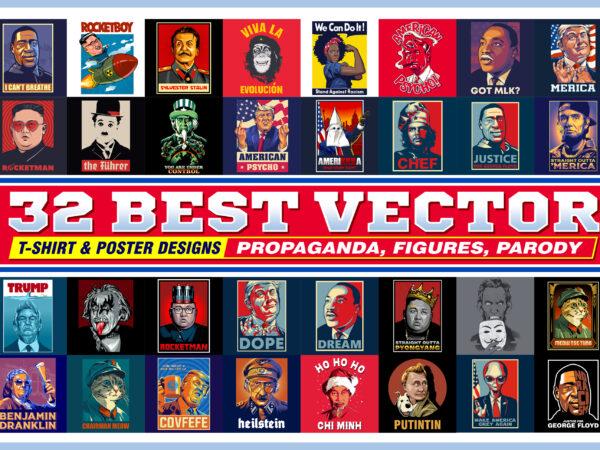 32 BEST VECTOR T-SHIRT & POSTER DESIGNS
